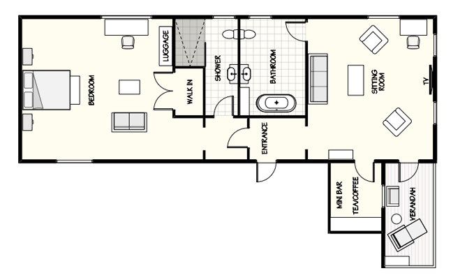 The Edenhouse Suite floorplan