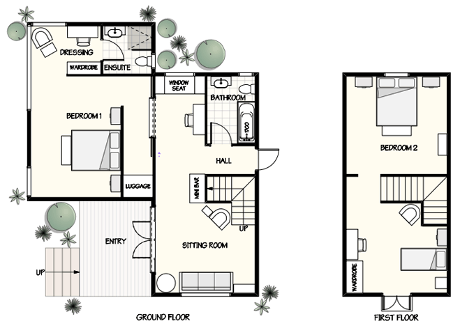 The Garden Cottage floorplan